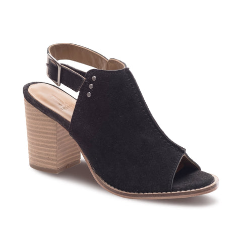 J SHOES WOMEN'S PIPPA BLACK SUEDE LEATHER MULE