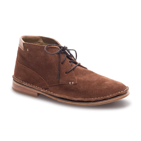 J SHOES MEN'S HAGGERSTON BRANDY BROWN SUEDE LEATHER DESSERT BOOT