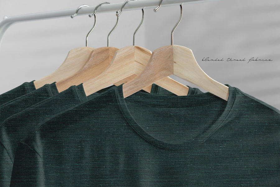 BLENDED ESSENTIALS* - Dark Green Linen Look