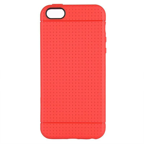 Apple iPhone 5 / 5S / SE / 5SE Luxmo Dotted TPU Back Cover Case - Red