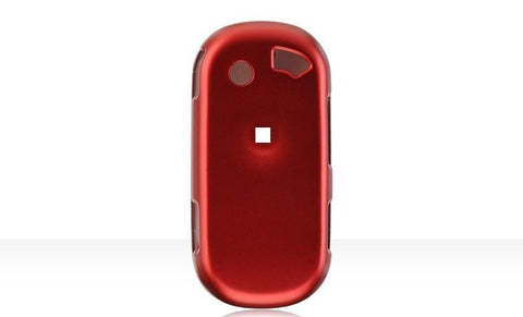 Pantech C820 Matrix Pro Luxmo Crystal Rubber Protector Case Red (AT&T)