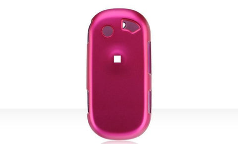 Pantech C820 Matrix Pro Luxmo Crystal Rubber Protector Case Hot Pink (AT&T)