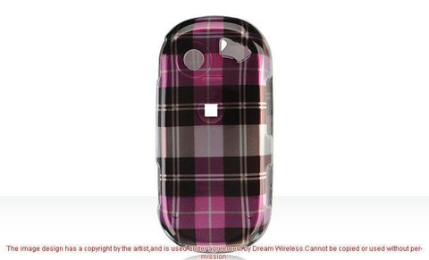 Pantech Matrix Pro C820 Luxmo Crystal Case Hot Pink Checker (AT&T)