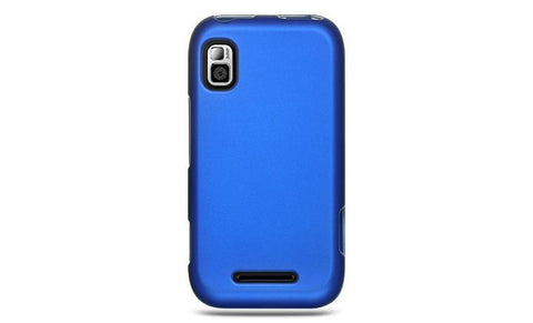Motorola Flipside Luxmo Crystal Rubber Protector Case Blue