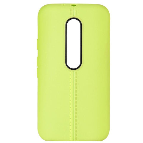Motorola Moto G (3rd Generation) Luxmo Slim Jacket TPU Case w/ Leather Finish - Green