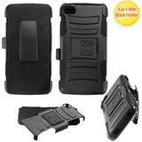 Alcatel 6060C Idol 5 Advanced Armor Stand Protector Cover - Black / Black (w/ Black Holster)