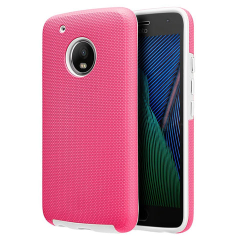 Motorola Moto G5 Plus / Moto X (2017) Luxmo Ezpress Anti-Slip Hybrid Case - Hot Pink