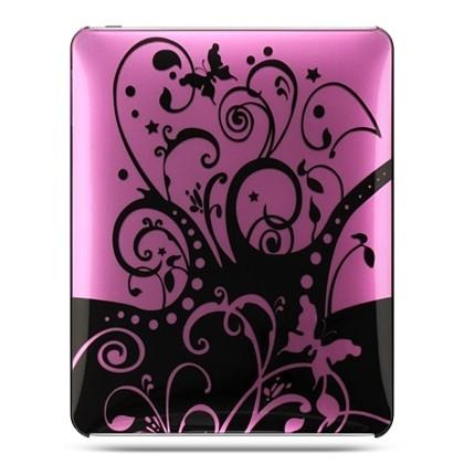 Apple iPad Luxmo Crystal Case w/ Black Swirl-Rear Only - Purple