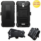 Alcatel 5042T OneTouch Pop Astro MyBat Advanced Armor Stand Protector Cover w/ Holster - Black