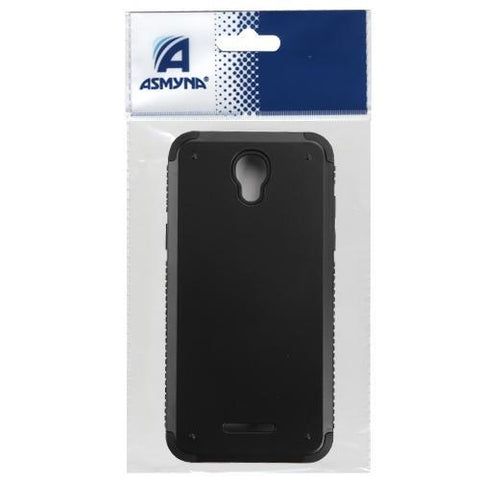 Alcatel 5017 One Touch Elevate Inverse Advanced Armor Stand Protector Cover -Black (w/ Card Wallet)