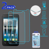 Alcatel Fierce 4 / One Touch Allura / Pop 4+ Tempered Glass Screen Protector (2.5D) (2-pack)
