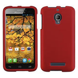 Alcatel 7024W One Touch Fierce MyBat Protector Case - Titanium Solid Red