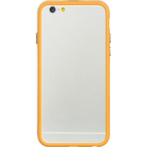 Apple iPhone 6 / 6S Luxmo Candy Bumper Case - Orange / Clear