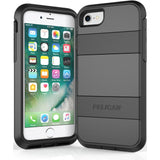 APPLE IPHONE 6  /  IPHONE 6S  /  IPHONE 7 PELICAN VOYAGER RUGGED CASE WITH KICKSTAND HOLSTER AND SCREEN PROTECTOR - BLACK