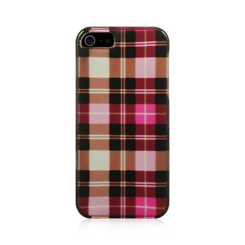Apple iPhone 5 Luxmo Crystal Case Hot Pink Checker