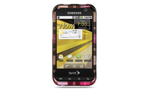 Samsung Conquer 4G / D600 Luxmo Crystal Case Hot Pink Checker