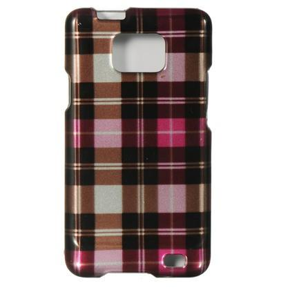 Samsung Attain / I777 Luxmo Crystal Case Hot Pink Checker