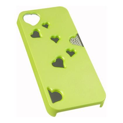 Apple iPhone 5 / 5S / SE Luxmo Heart Reflection Mirror Case - Green