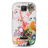 Motorola Theory Luxmo Crystal Rubber Protector Case White Autumn Flower