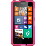 Nokia 630 / 635 Lumia Luxmo Crystal Rubber Case - Hot Pink