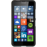 Nokia Lumia 640 Luxmo Crystal Rubber Case - Black