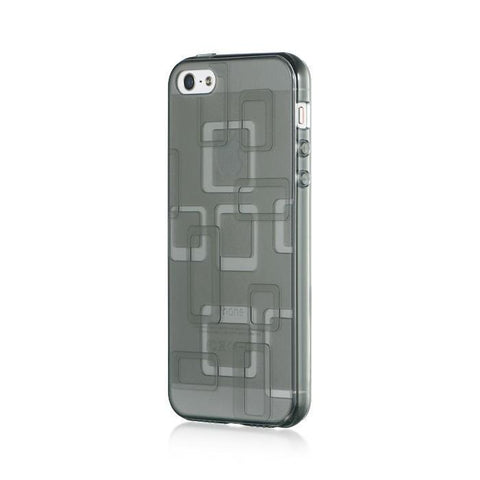 Apple iPhone 5 Luxmo Crystal Skin Case Geometric Gray