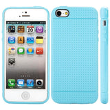 Apple iPhone 5 / 5S / SE Luxmo Dotted TPU Case - Blue