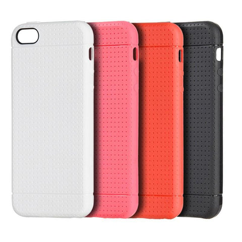 Apple iPhone 5 / 5S / SE / 5SE Luxmo Dotted TPU Back Cover Case - White