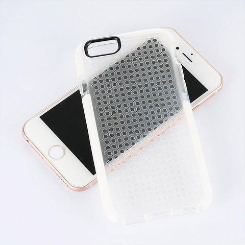 Apple iPhone 6 / 6S Luxmo Contempo Anti-Shock Series TPU Case - Clear w/ White