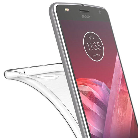 Motorola Moto Z2 Force Luxmo High Quality Crystal Skin Case - Clear