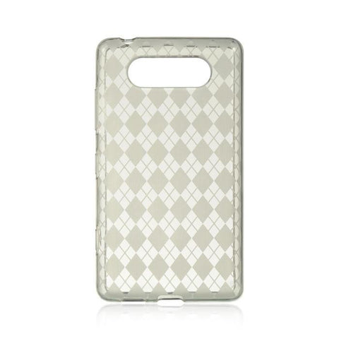 Nokia Lumia 820 Luxmo Crystal Skin Case Clear Checker