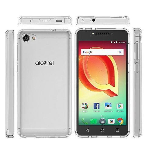 Alcatel PulseMix / Crave Fusion Candy TPU With Clear Acrylic Back - Clear
