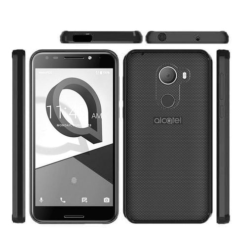 Alcatel Revvl Luxmo Fusion Candy TPU With Clear Acrylic Back - Black