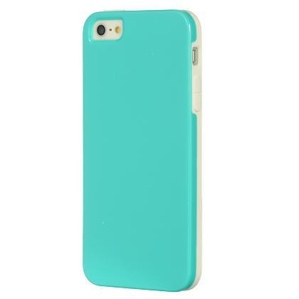 Apple iPhone 5 Luxmo Fushion Candy Case White Trim W / Teal Agua