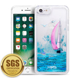 Apple iPhone 6 / 6S / 7 / 8 Luxmo Waterfall Fusion Liquid Sparkling Quicksand Case - Sailing in Paradise