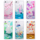 Apple iPhone 6 / 6S / 7 / 8 Luxmo Waterfall Fusion Liquid Sparkling Quicksand Case - Tropical Summer