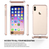 Apple iPhone 6 / 6S / 7 / 8 Luxmo Fusion Candy TPU Case w/ Clear Acrylic Back - Pink