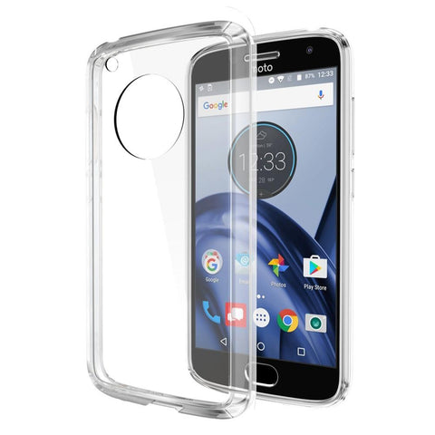 Motorola Moto G5 Luxmo Fusion Candy TPU w/ Clear Acrylic Back - Clear