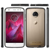 Motorola Moto Z2 Force Luxmo Fusion Candy TPU Case w/ Clear Acrylic Back - Clear