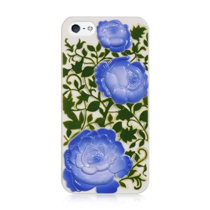 Apple iPhone 5 Luxmo Crystal  Case 3 Roses Blue