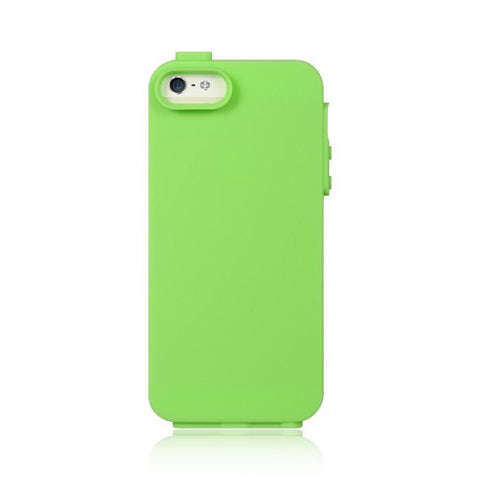 Apple iPhone 5 Luxmo High End Standed Green Skin w/ Green Rubber Protector Case