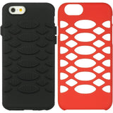 Apple iPhone 6 / 6S Luxmo Bee Hive Hybrid Case - Black / Red
