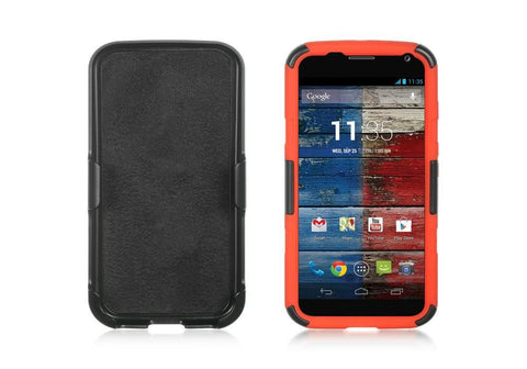 Motorola Moto X Snap On Case w/ Holster Combo - Red