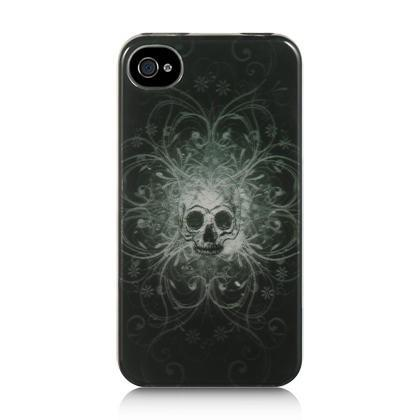 Apple iPhone 4 / 4S Luxmo Crystal Case - Black Nightmare