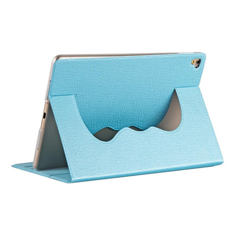 "Apple iPad Pro 9.7"" 360 Rotatable Cloud Flip Case w/ Stand - Blue"