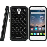 Alcatel One Touch Pop Astro Luxmo Hybrid Studded Diamond Case - Black