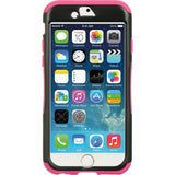 Apple iPhone 6 / 6S Luxmo 3 Piece Hybrid Case w/ Stand - Hot Pink / Black