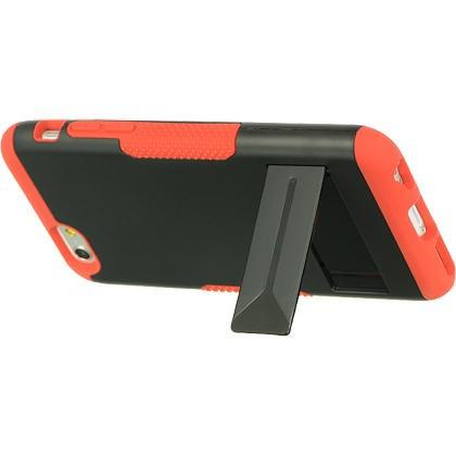 Apple iPhone 6 / 6S  Luxmo 3 Piece Hybrid Case w/ Stand - Red / Black