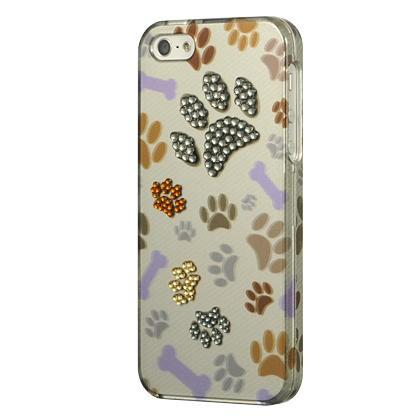 Apple iPhone 5 Luxmo Spot Diamond Case Bone Bone Paw
