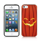 Apple iPhone 5 / 5S / SE Luxmo TPU IMD Case - Halloween Orange Pumpkin